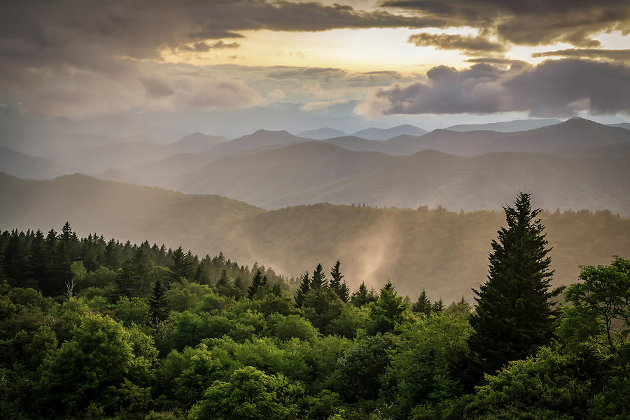 America Photograph - Cowee Mountains Sunset 2 by Serge Skiba
