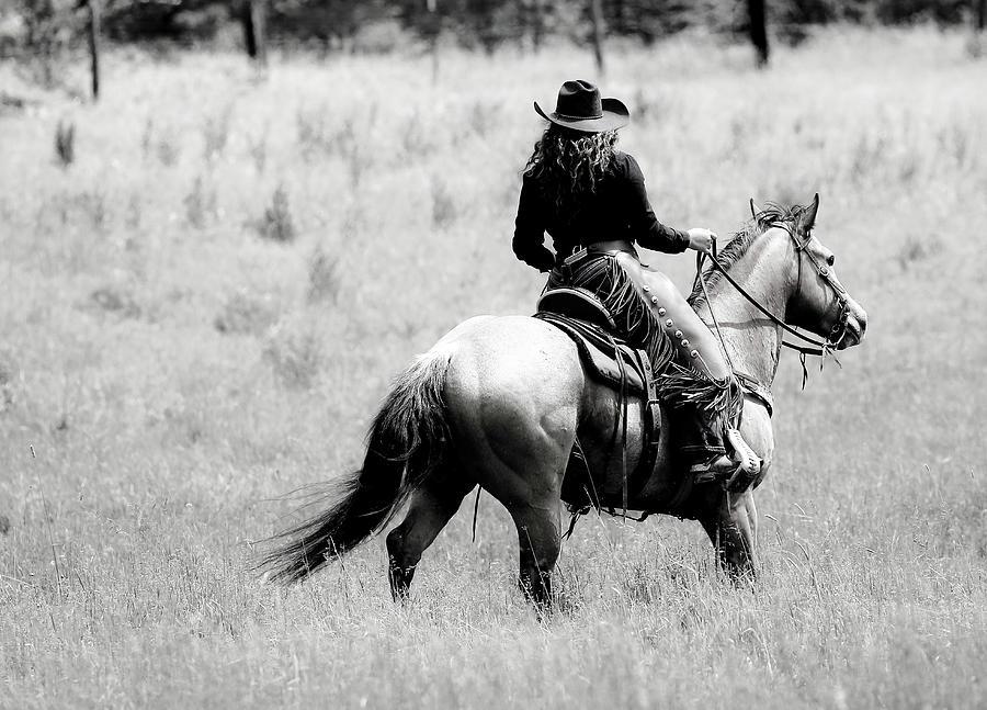 Cowgirl Horseback Photograph By Athena Mckinzie