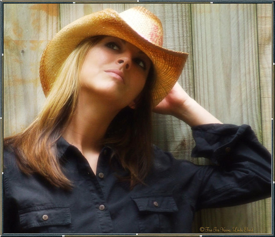 Cowgirl Photograph - Cowgirl  by Linda Ebarb