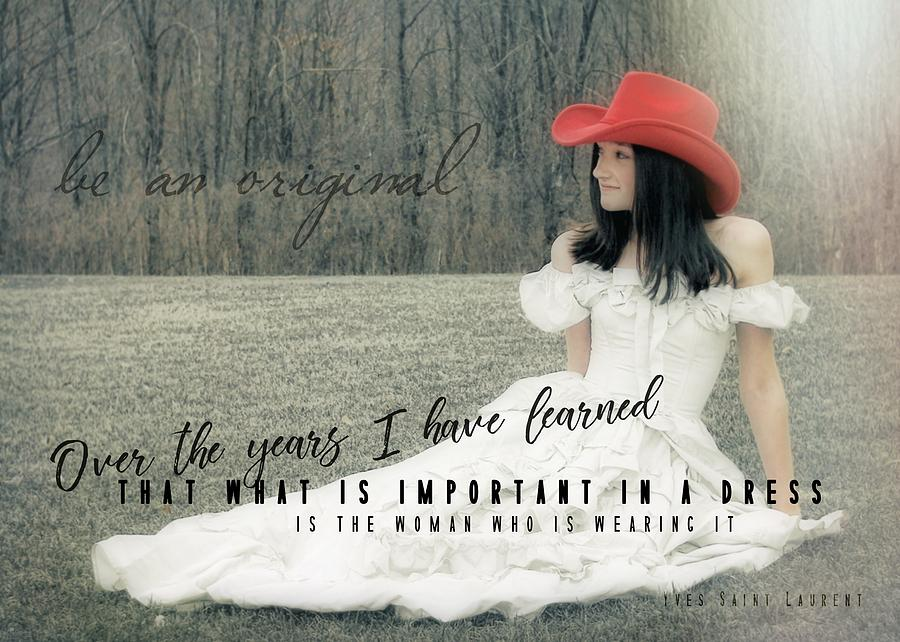 Cowgirl Photograph - Cowgirl Red Quote by JAMART Photography