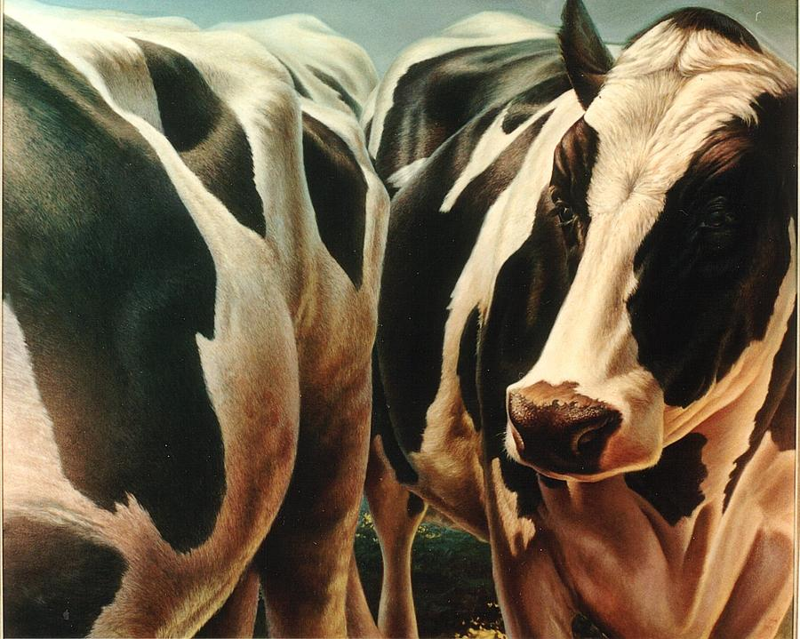 Cows Painting - Cows 1 by Hans Droog
