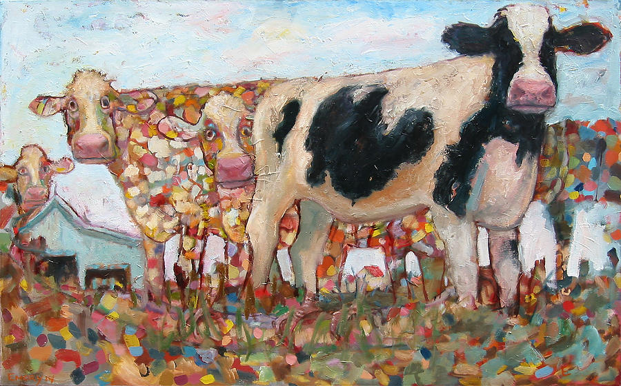 Cows on Grass by Paul Emory