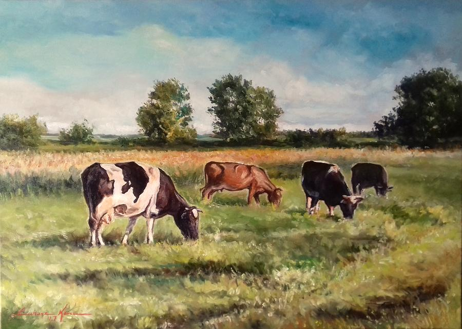 Cows on the pasture by Luke Karcz