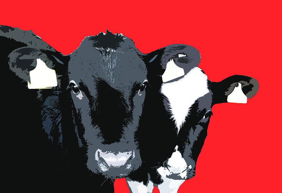 Cows - Red by Mary Castellan