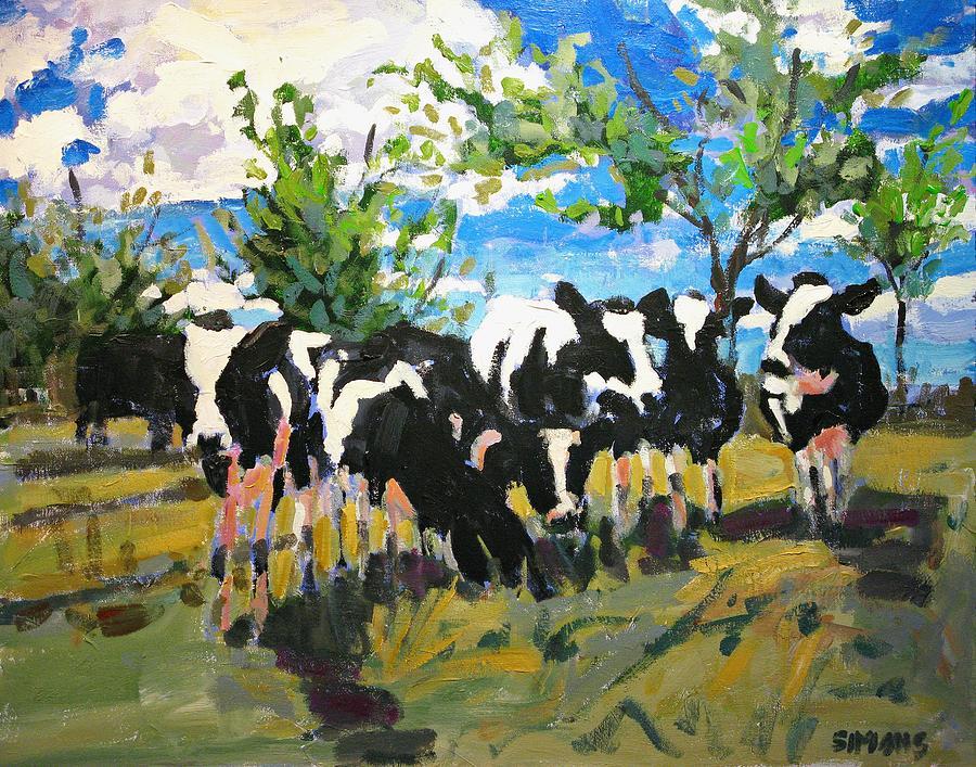 Landscape Painting - Cowscape by Brian Simons
