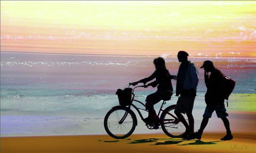 Seashore Digital Art - Cox Bay Bike by Bill Linn