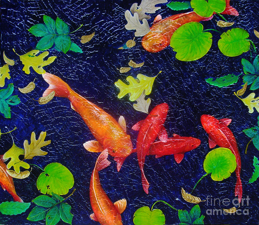 Fish Painting - Coy by Susan Clausen