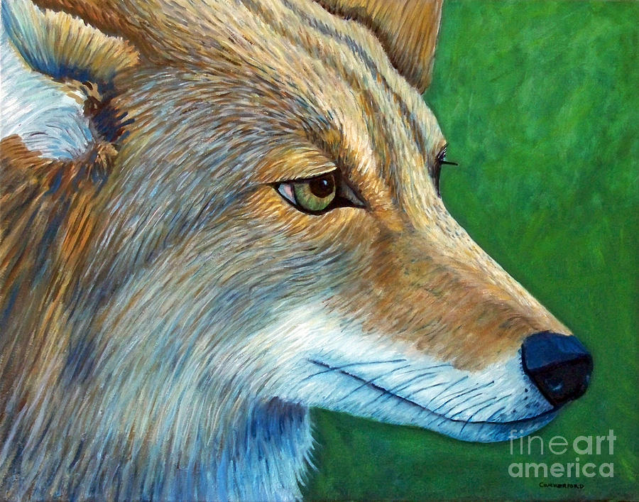 Coyote Painting - Coyote Logic by Brian  Commerford
