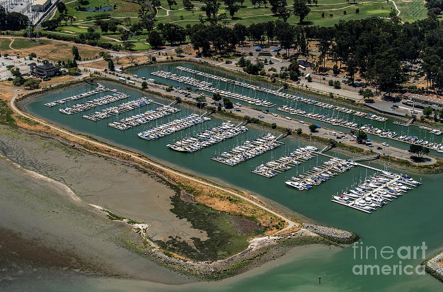 Boats Photograph - Coyote Point Yacht Club In San Mateo, California by David Oppenheimer