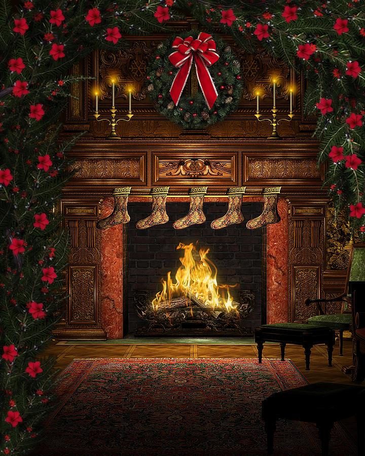 Christmas Hearth.Cozy Christmas