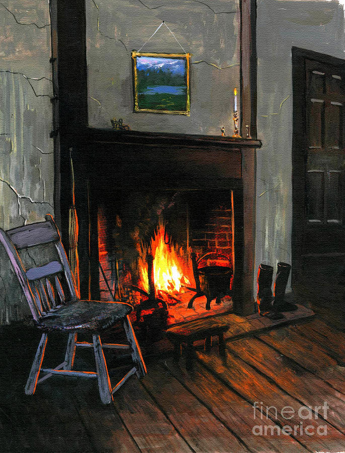 Cabin Painting - Cozy by Robert Foster