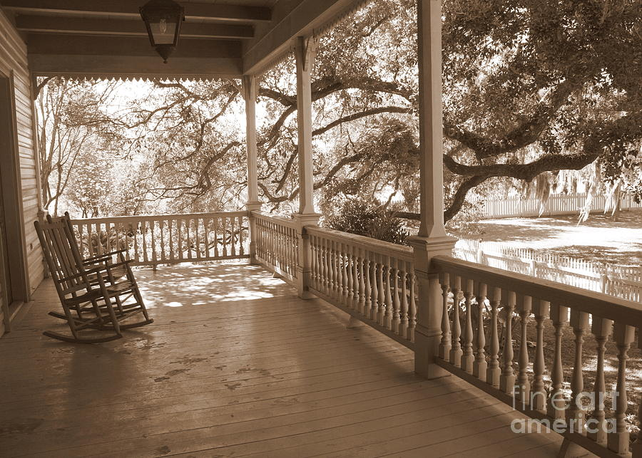 Porch Photograph - Cozy Southern Porch by Carol Groenen