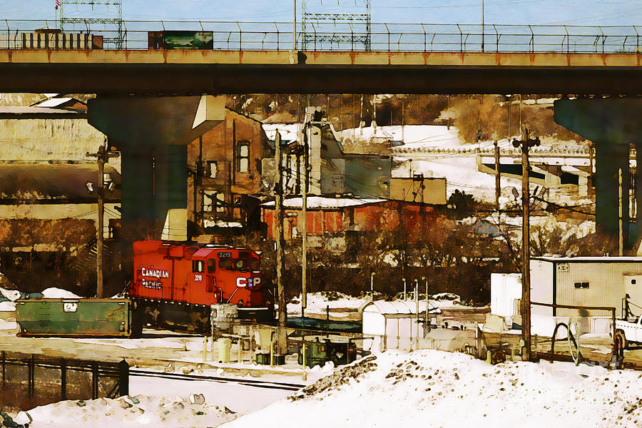 Rail Yard Digital Art - C P-2219 by David Blank