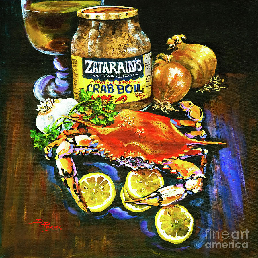 New Orleans Painting - Crab Fixins by Dianne Parks
