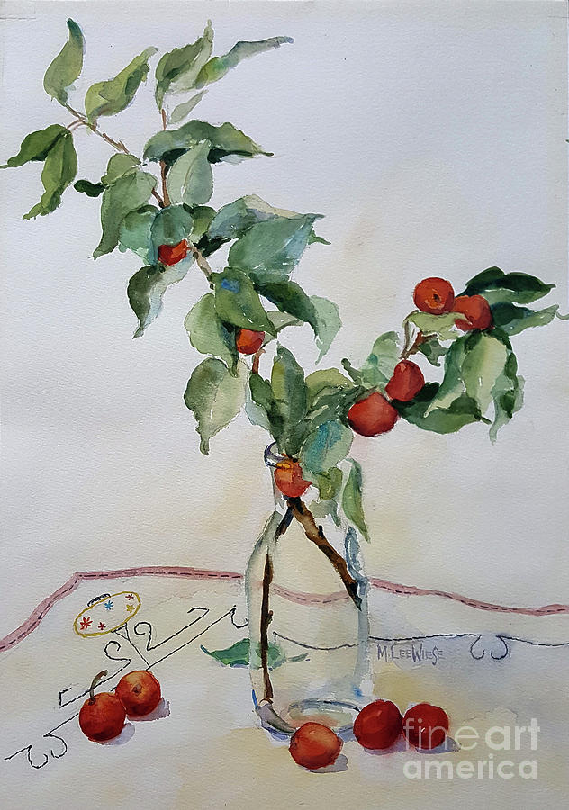 Crabapple Branches Painting By Marilynn Wiese