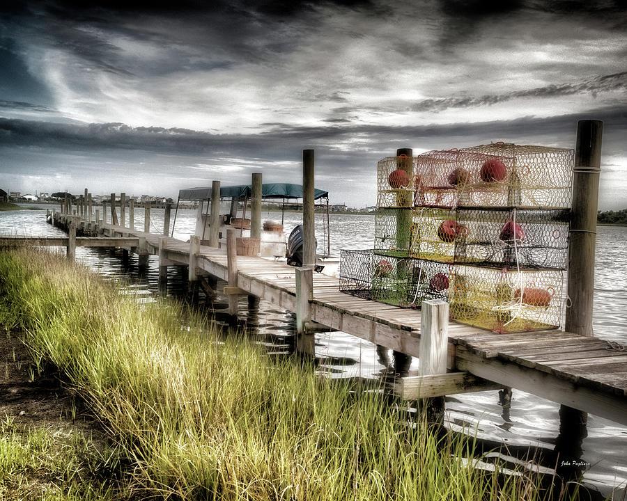 Crabber's dock, Surf City, North Carolina by John Pagliuca