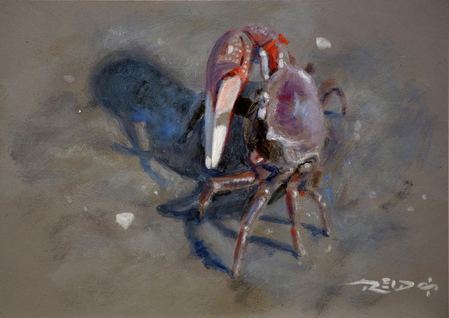 Acrylic Painting - Crabby by Christopher Reid