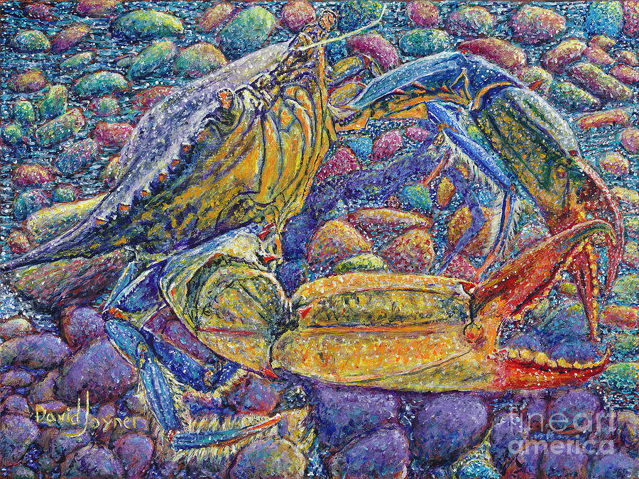 Crab Painting - Crabby by David Joyner