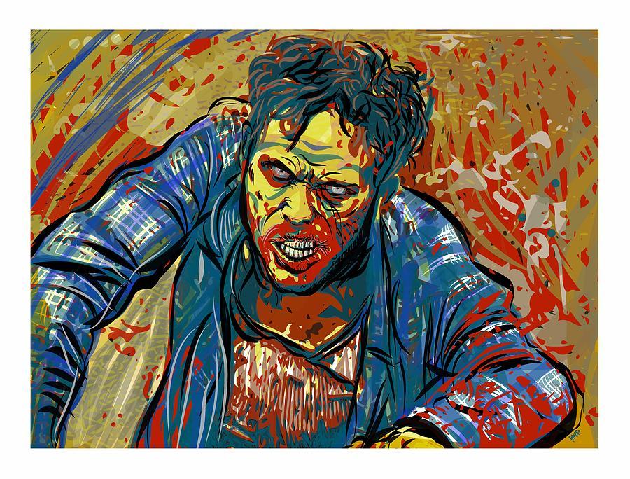 Zombie Digital Art - Crabby Joe by Antonio Romero