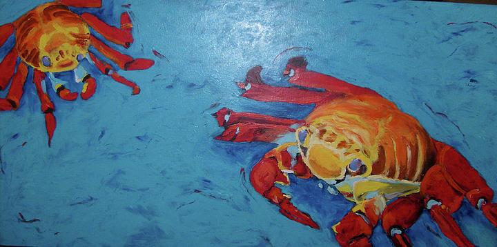 Crabs Painting - Crabs by Sarah LaRose Kane