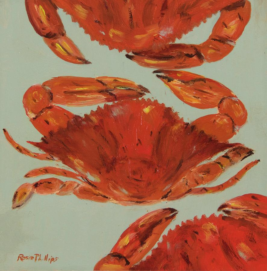 Crab Painting - Crabs Tonight by Rosie Phillips
