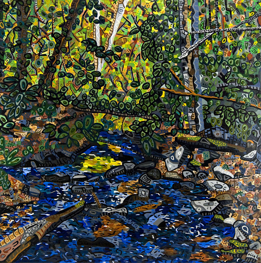 Acrylic Painting - Crabtree Creek by Micah Mullen