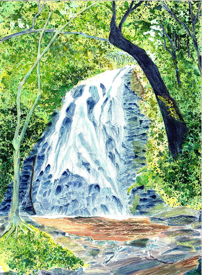 Crabtree Falls - Phantom Of The Blue Ridge Painting by Joel Deutsch