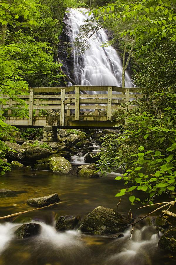 Crabtree Falls Photograph - Crabtree Falls And Bridge by Andrew Soundarajan