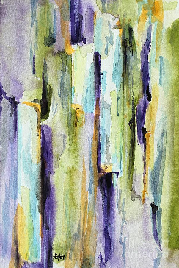 Abstract Painting - Crack by Leslie Hanner