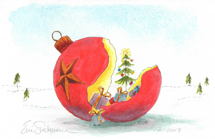 Cracked Chrismas Ornament by Eric Suchman