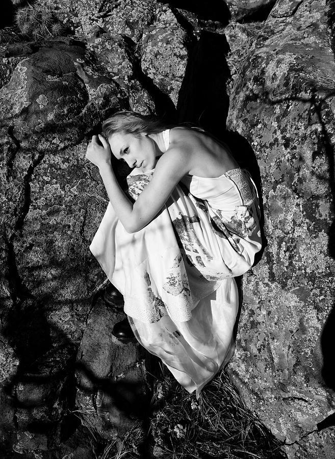 Woman Photograph - Cracked by Scott Sawyer