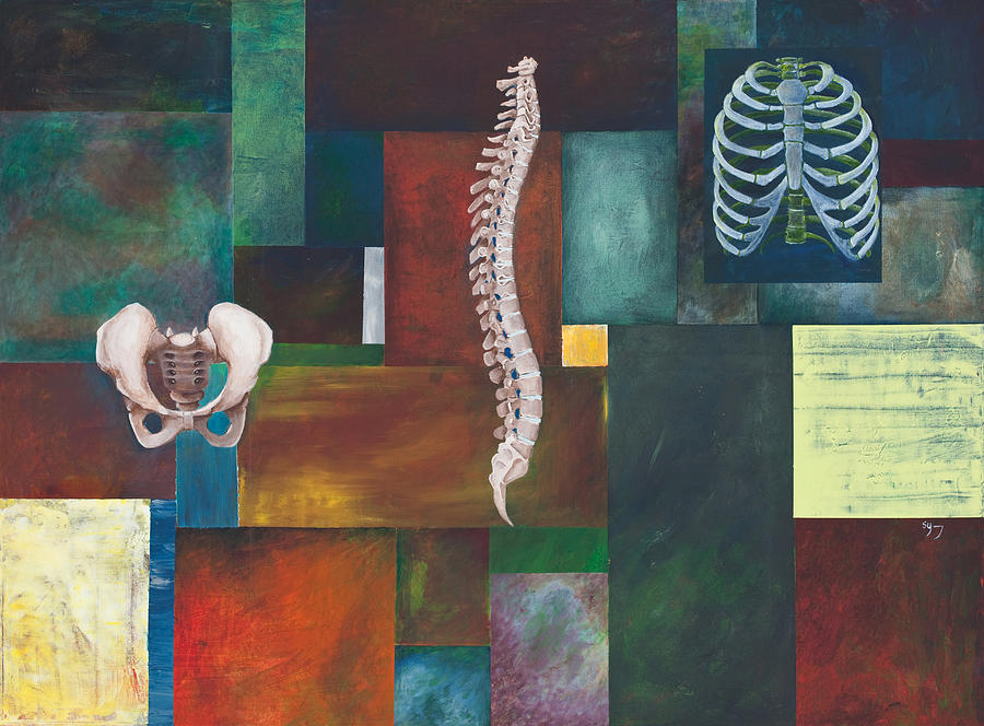 Chiropractic Painting - Cradle Column Cage by Sara Young