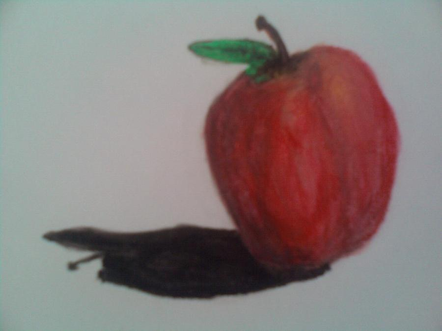 Fruit Pastel - Craft Apple Still Life by Rm Cowley