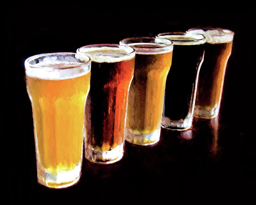 Craft Beers Mixed Media