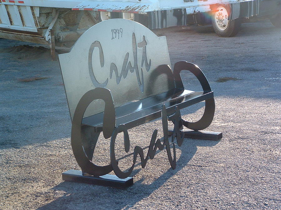 Stee Sculpture - Craft Bench by Buzz Ferrell