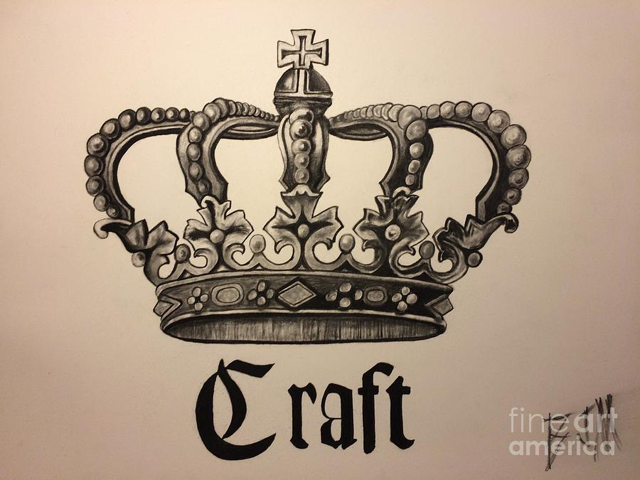 Crown Drawing - Craft Crown  by Brad Miller