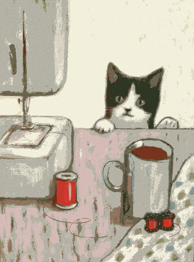 Crafty Cat #2 by Kazumi Whitemoon