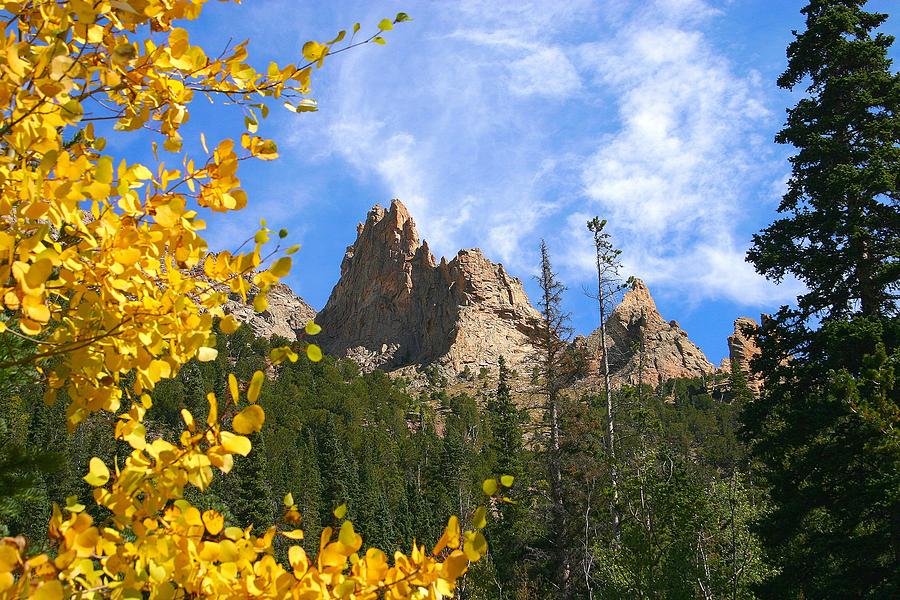 Fall Photograph - Crags in Fall by Perspective Imagery