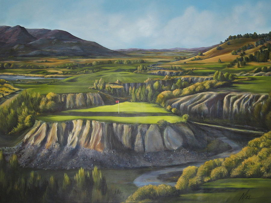 Golf Painting - Craigs Course by Melody Horton Karandjeff