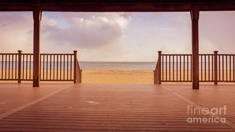 Craigville Beach Centerville Cape Cod Deck Wide  by Edward Fielding