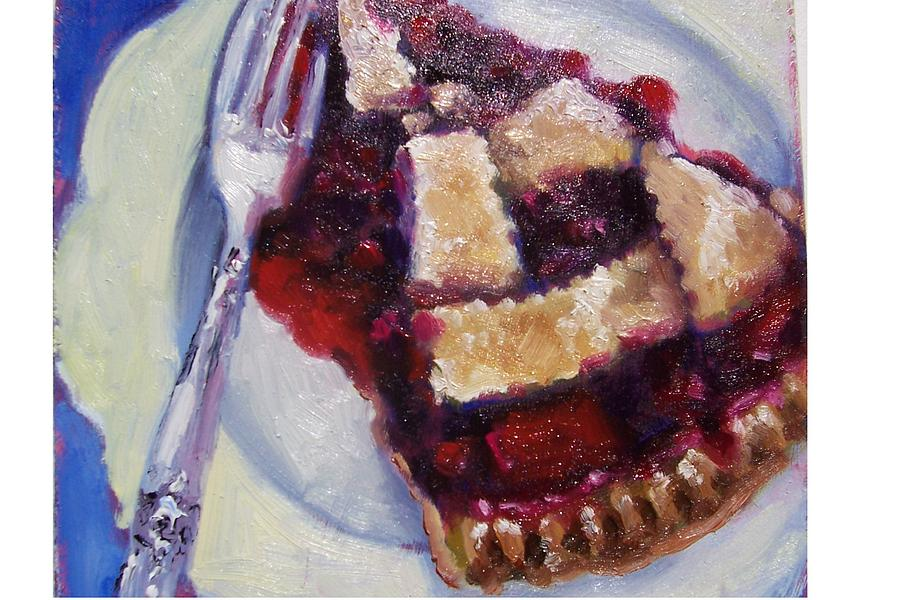 Painting Painting - Cranberry Raisen Pie         by Susan Jenkins