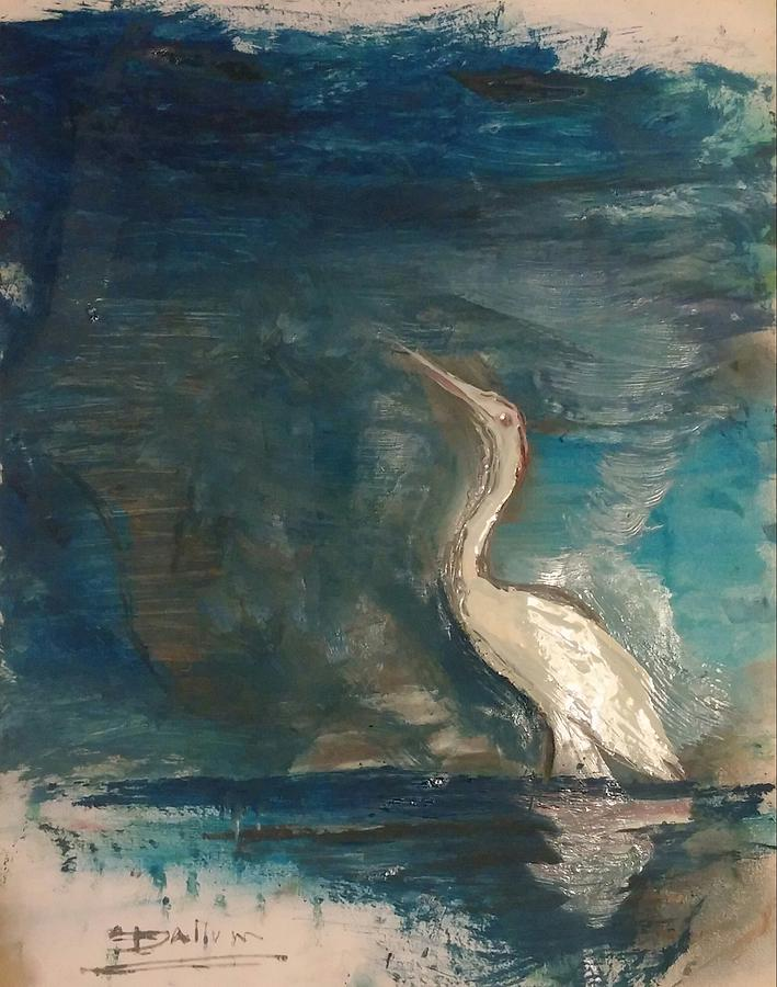 Painting - Crane by Gregory Dallum