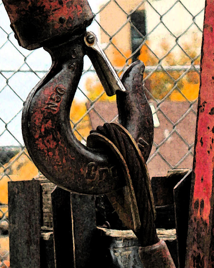 Construction Photograph - Crane Hook by Gary Everson
