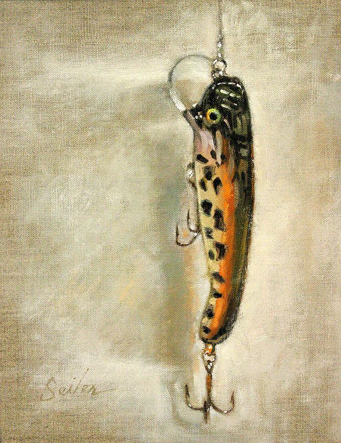 Fishing Painting - Cranky Nitro- Muskie Lure by Larry Seiler