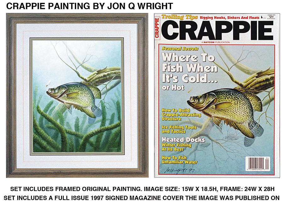 Jon Q Wright Painting - Crappie #2 by JQ Licensing
