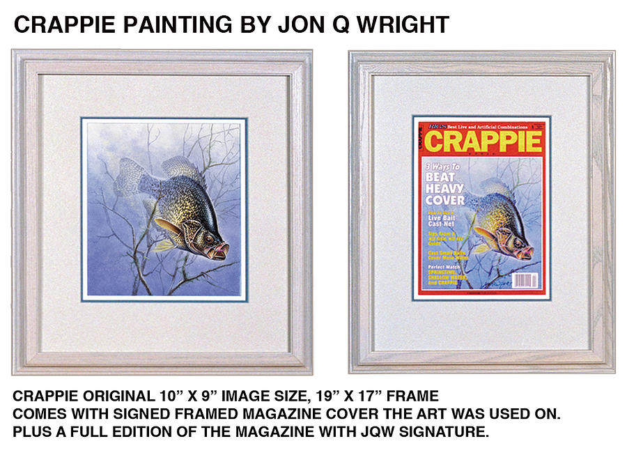 Jon Q Wright Painting - Crappie Magazine And Original by JQ Licensing