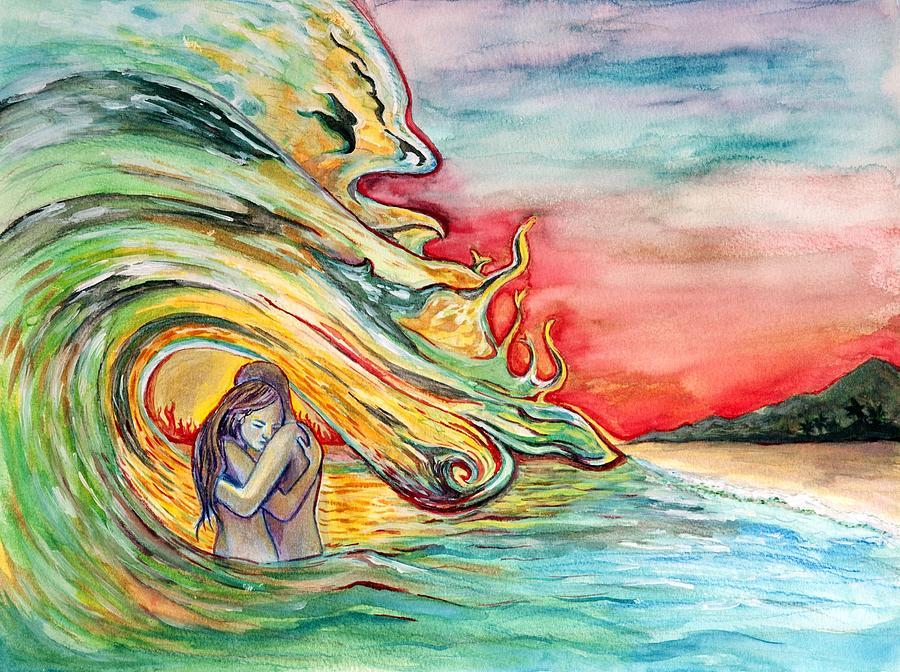 Ocean Painting - Crash by Starr Weems