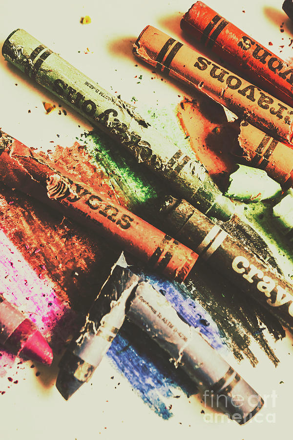 Antique Photograph - Crash Test Crayons by Jorgo Photography - Wall Art Gallery