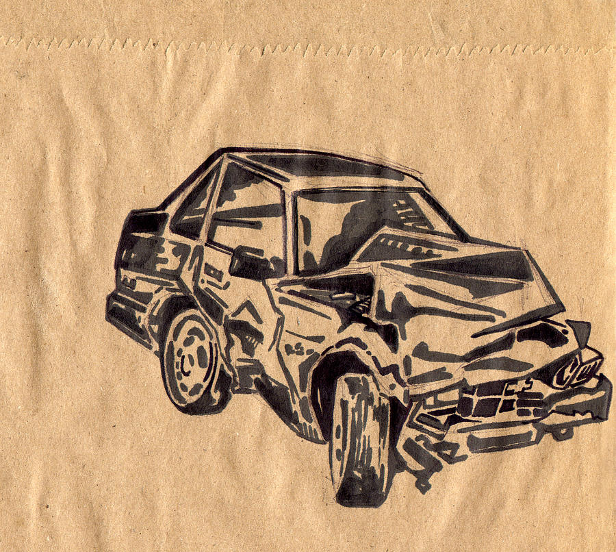 Car Crash Drawings | Fine Art America