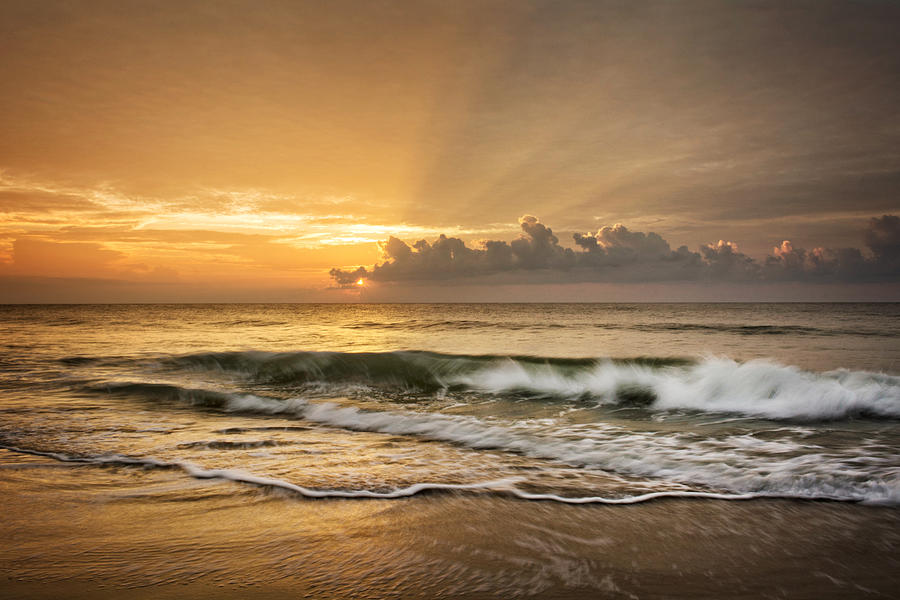 Crashing Waves At Sunrise by Greg Mimbs